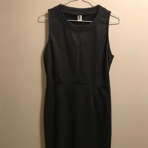 Charcoal grey work dress